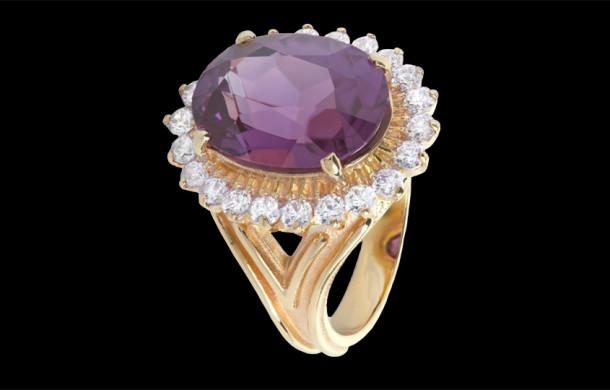 Кольцо из коллекции «OSTARA» из белого золота 585*